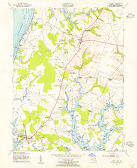 Download a high-resolution, GPS-compatible USGS topo map for Rock Hall, MD (1955 edition)