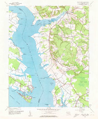 Download a high-resolution, GPS-compatible USGS topo map for Rock Point, MD (1962 edition)