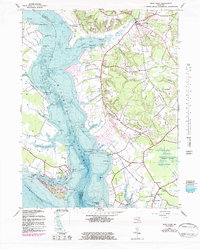 Download a high-resolution, GPS-compatible USGS topo map for Rock Point, MD (1983 edition)