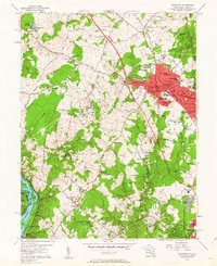Download a high-resolution, GPS-compatible USGS topo map for Rockville, MD (1963 edition)