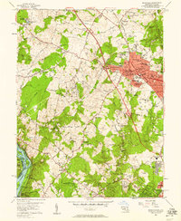 Download a high-resolution, GPS-compatible USGS topo map for Rockville, MD (1958 edition)