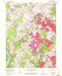 Download a high-resolution, GPS-compatible USGS topo map for Rockville, MD (1972 edition)