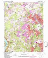 Download a high-resolution, GPS-compatible USGS topo map for Rockville, MD (1986 edition)