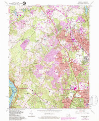 Download a high-resolution, GPS-compatible USGS topo map for Rockville, MD (1984 edition)