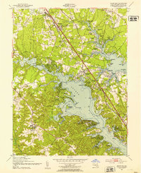 Download a high-resolution, GPS-compatible USGS topo map for Round Bay, MD (1953 edition)