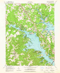 Download a high-resolution, GPS-compatible USGS topo map for Round Bay, MD (1966 edition)