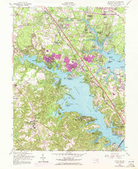 Download a high-resolution, GPS-compatible USGS topo map for Round Bay, MD (1972 edition)