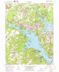 Download a high-resolution, GPS-compatible USGS topo map for Round Bay, MD (1979 edition)