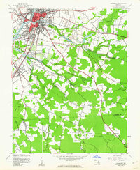 Download a high-resolution, GPS-compatible USGS topo map for Salisbury, MD (1962 edition)