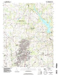 Download a high-resolution, GPS-compatible USGS topo map for Sandy Spring, MD (1996 edition)