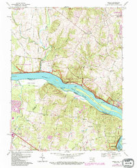 Download a high-resolution, GPS-compatible USGS topo map for Seneca, MD (1984 edition)