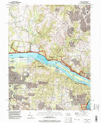 Download a high-resolution, GPS-compatible USGS topo map for Seneca, MD (1998 edition)