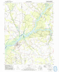 Download a high-resolution, GPS-compatible USGS topo map for Sharptown, MD (1992 edition)