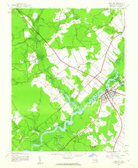 Download a high-resolution, GPS-compatible USGS topo map for Snow Hill, MD (1962 edition)
