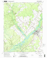Download a high-resolution, GPS-compatible USGS topo map for Snow Hill, MD (1968 edition)