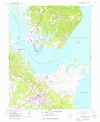 Download a high-resolution, GPS-compatible USGS topo map for Solomons Island, MD (1976 edition)