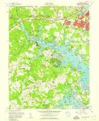 Download a high-resolution, GPS-compatible USGS topo map for South River, MD (1958 edition)