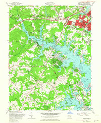 Download a high-resolution, GPS-compatible USGS topo map for South River, MD (1964 edition)
