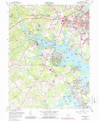 Download a high-resolution, GPS-compatible USGS topo map for South River, MD (1987 edition)