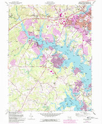 Download a high-resolution, GPS-compatible USGS topo map for South River, MD (1993 edition)