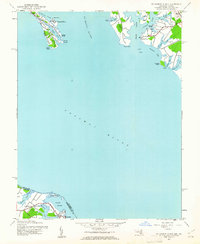 Download a high-resolution, GPS-compatible USGS topo map for St George Island, MD (1961 edition)