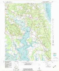 Download a high-resolution, GPS-compatible USGS topo map for St Marys City, MD (1983 edition)