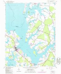 Download a high-resolution, GPS-compatible USGS topo map for St Michaels, MD (1986 edition)