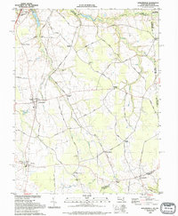 Download a high-resolution, GPS-compatible USGS topo map for Sudlersville, MD (1993 edition)