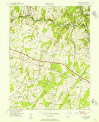 Download a high-resolution, GPS-compatible USGS topo map for Sykesville, MD (1954 edition)