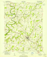 Download a high-resolution, GPS-compatible USGS topo map for Taneytown, MD (1955 edition)