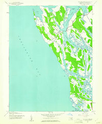 Download a high-resolution, GPS-compatible USGS topo map for Taylors Island, MD (1961 edition)