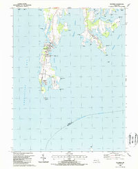 Download a high-resolution, GPS-compatible USGS topo map for Tilghman, MD (1988 edition)
