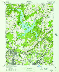 Download a high-resolution, GPS-compatible USGS topo map for Towson, MD (1957 edition)