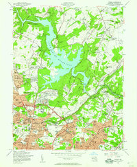 Download a high-resolution, GPS-compatible USGS topo map for Towson, MD (1958 edition)