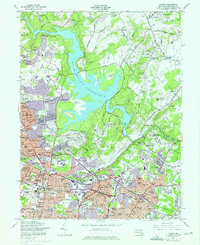 Download a high-resolution, GPS-compatible USGS topo map for Towson, MD (1976 edition)