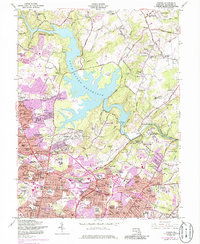 Download a high-resolution, GPS-compatible USGS topo map for Towson, MD (1986 edition)