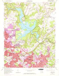 Download a high-resolution, GPS-compatible USGS topo map for Towson, MD (1967 edition)