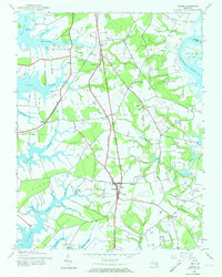 Download a high-resolution, GPS-compatible USGS topo map for Trappe, MD (1973 edition)