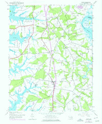 Download a high-resolution, GPS-compatible USGS topo map for Trappe, MD (1976 edition)