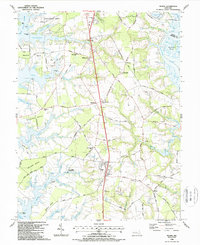 Download a high-resolution, GPS-compatible USGS topo map for Trappe, MD (1988 edition)