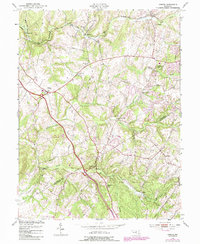Download a high-resolution, GPS-compatible USGS topo map for Urbana, MD (1987 edition)
