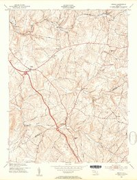 Download a high-resolution, GPS-compatible USGS topo map for Urbana, MD (1954 edition)