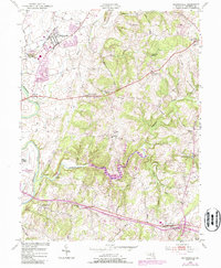 Download a high-resolution, GPS-compatible USGS topo map for Walkersville, MD (1987 edition)