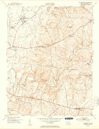 Download a high-resolution, GPS-compatible USGS topo map for Walkersville, MD (1953 edition)