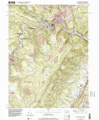 Download a high-resolution, GPS-compatible USGS topo map for Westernport, MD (2002 edition)