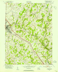 Download a high-resolution, GPS-compatible USGS topo map for Westminster, MD (1954 edition)