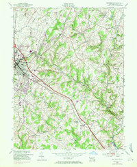 Download a high-resolution, GPS-compatible USGS topo map for Westminster, MD (1971 edition)