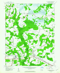 Download a high-resolution, GPS-compatible USGS topo map for Whaleysville, MD (1962 edition)