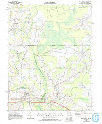 Download a high-resolution, GPS-compatible USGS topo map for Whaleysville, MD (1992 edition)