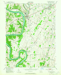 Download a high-resolution, GPS-compatible USGS topo map for Williamsport, MD (1965 edition)